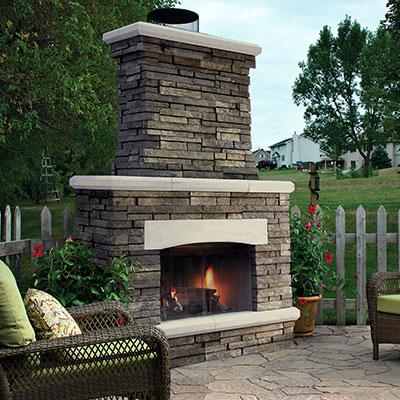 Belgard outdoor fireplaces kitchens randolph for Modular outdoor fireplace